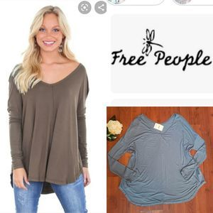 NWT Free People Blue Tunic Top